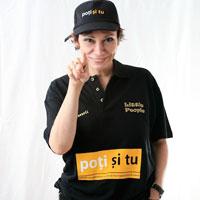 "Oana Pellea sustine campania ""Poti Si Tu!"""