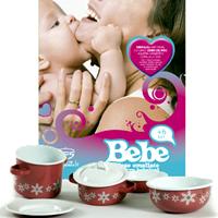 BEBE – primul set de vase emailate pentru bebelusi