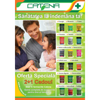 Oferte pentru sanatate la pret redus in farmaciile Catena !