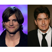 """Ashton Kutcher, in locul lui Charlie Sheen in serialul """"Two and a Half Men"""""""