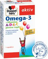 Omega 3 cu vitaminele A+D+E+C, suplimentul pentru copilul tau de la Doppelherz