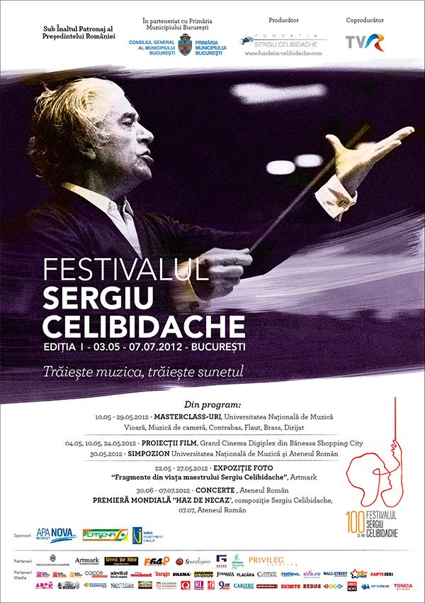 Prima editie a Festivalului Sergiu Celibidache la Bucuresti, 3 mai - 7 iulie 2012