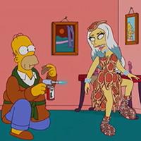 Lady Gaga isi imprumuta vocea si infatisarea in serialul animat The Simpsons