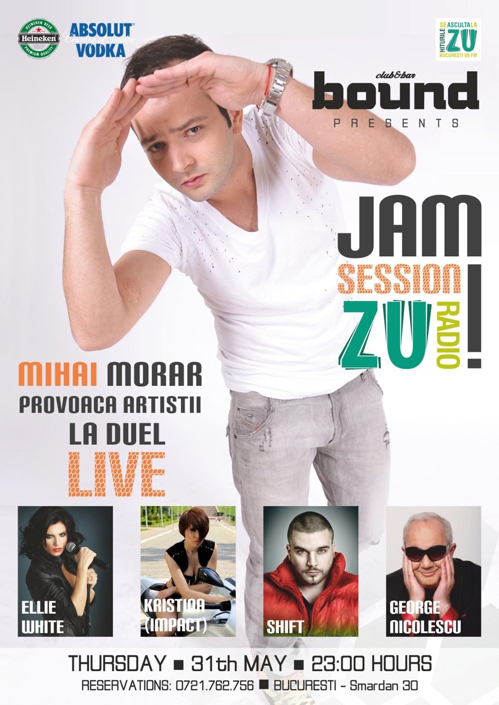 Mihai Morar provoaca artistii la duel in cadrul Jam Session Zu