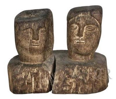 Arhetipuri sculpturale - sculptura in lemn