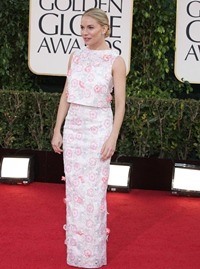 Sienna Miller, aparitie boema la Globurile de Aur