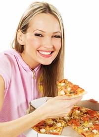Visul oricarei persoane aflate la dieta... s-a inventat pizza mai sanatoasa decat salata