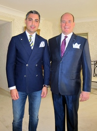 Principele Albert de Monaco poarta creatii semnate Alexandru Ciucu