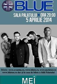 Trupa Blue concerteaza pe 5 aprilie in Bucuresti