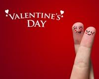 Manichiura in stil Valentine's Day