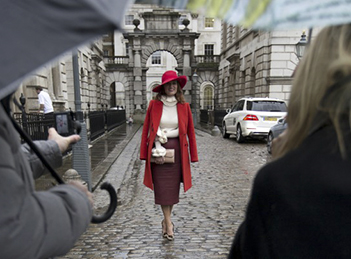 Carmen Negoita, interviu pentru presa internationala in cadrul London Fashion Week