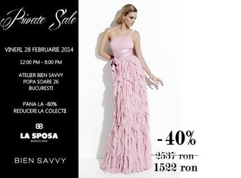 Private Sale Bien Savvy pe 28 februarie