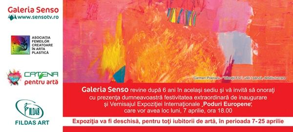 """Va invitam la Vernisajul Expozitiei Internationale de Arta Plastica Feminina Contemporana """"Poduri Europene"""""""