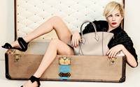 Michelle Williams, in campania de primavara-vara 2014 Louis Vuitton