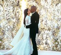 Kim Kardashian si Kanye West, nunta in stil italian