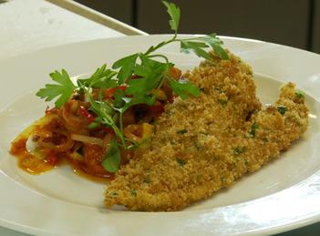 File de cod cu legume mediteraneene