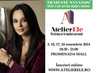 Andreea Marin, speaker in cadrul workshopului AtelierEle