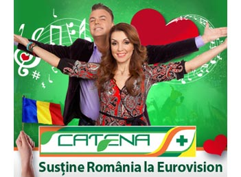 Catena sustine Romania la Eurovision 2015