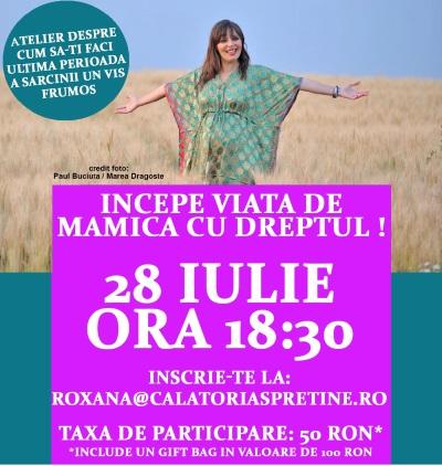 Incepe viata de mama cu dreptul, alaturi de Roxana Iliescu