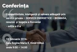 Conferință pe tema biomasei și a provocărilor exploatării acesteia