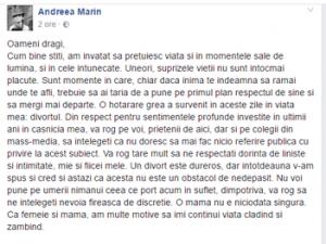 Andreea Marin divorteaza de Tuncay Ozturk