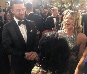 Nadia Comaneci a stralucit pe covorul rosu, la Globurile de Aur: cu ce vedete s-a intalnit si cine a laudat-o