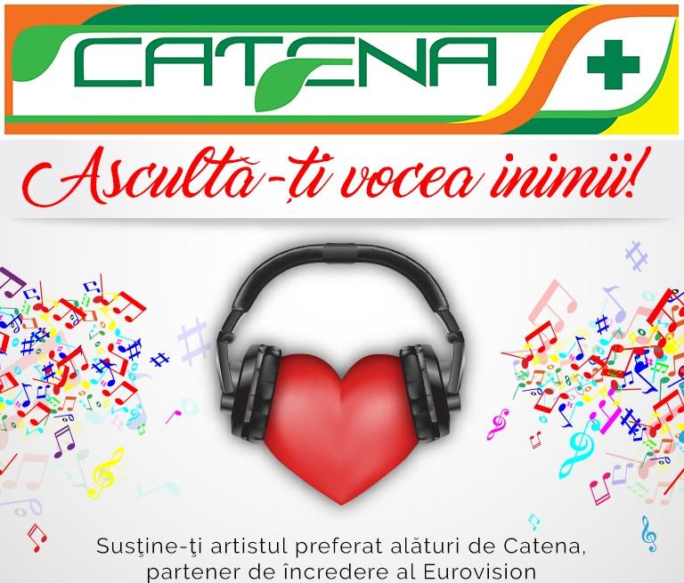 Sustine artistii romani la Eurovision, alaturi de Catena!