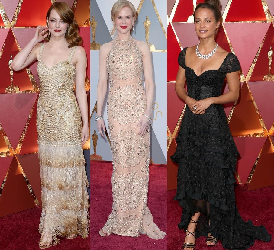 Top 10 cel mai bine imbracate actrite la Oscar 2017: vedeta care a purtat o funda albastra in semn de protest fata de o decizie a presedintelui Trump
