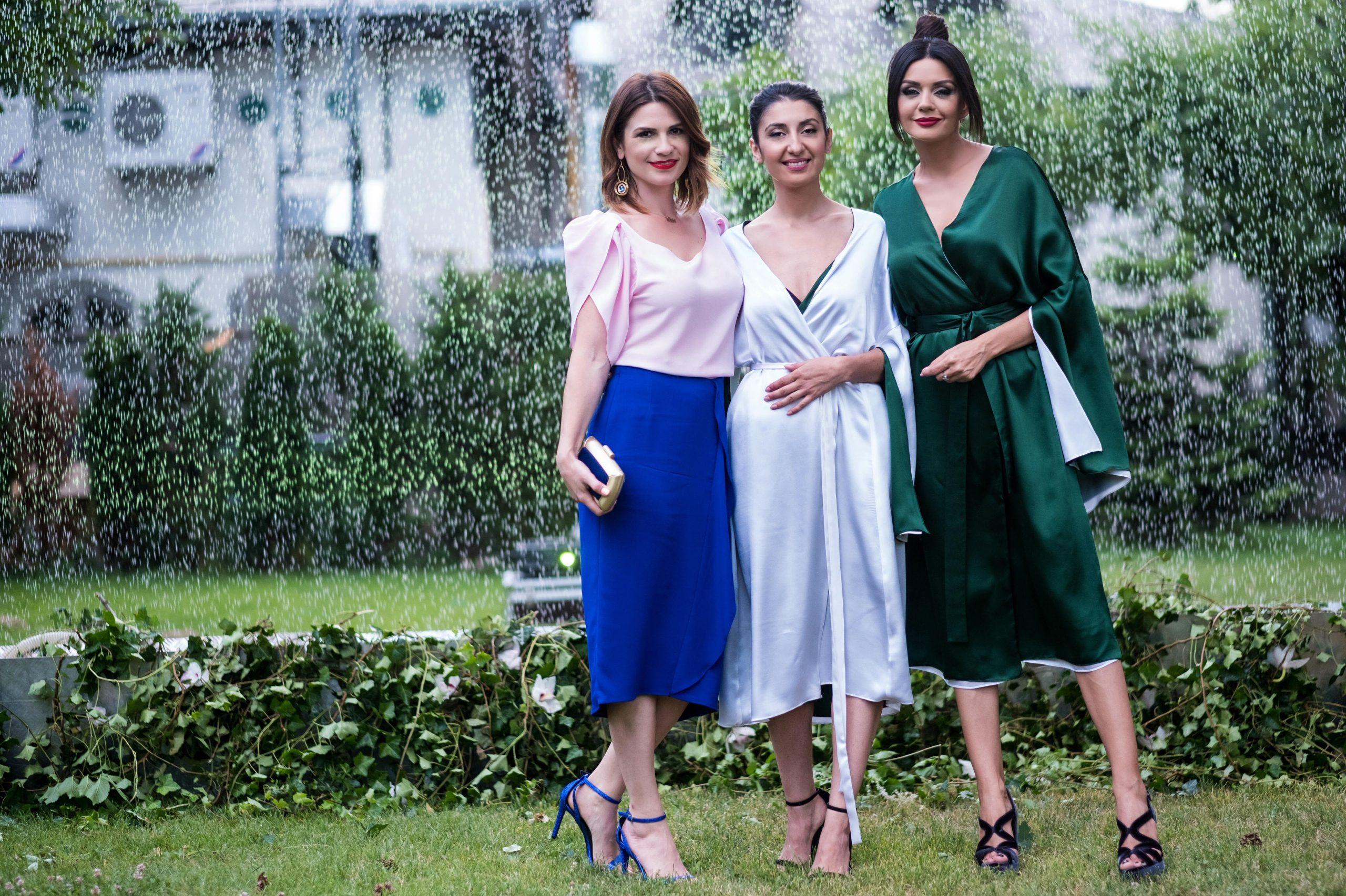 Rochia din matase cu doua fete, lansata de creatoarea de moda Laura Hincu