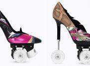 Noii roller-skate stiletto de la Saint Laurent, provocarea verii pentru fashioniste