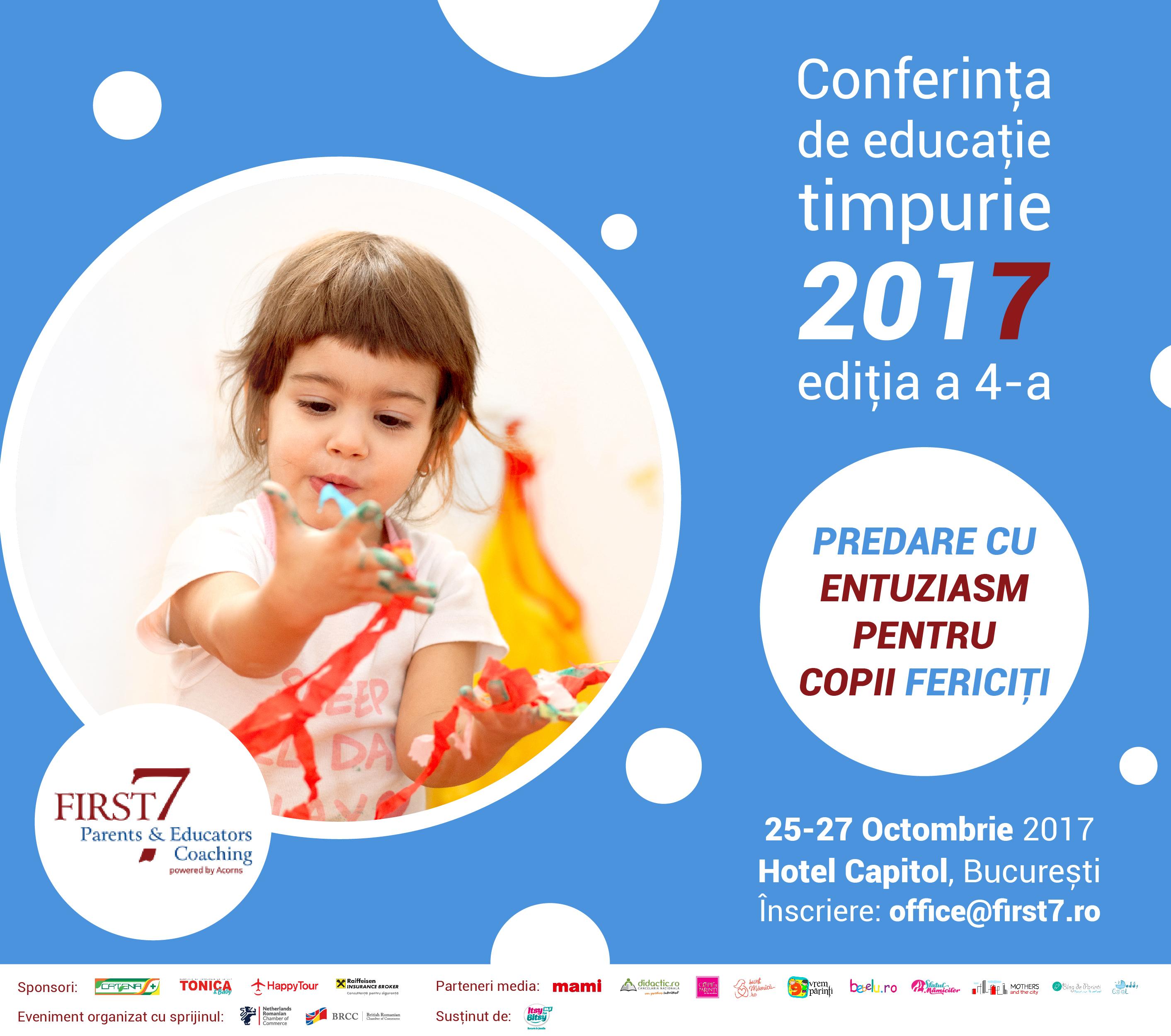 """""""Educatie cu entuziasm pentru copii fericiti"""" , editia a 4-a: cine sunt speakerii internationali invitati"""
