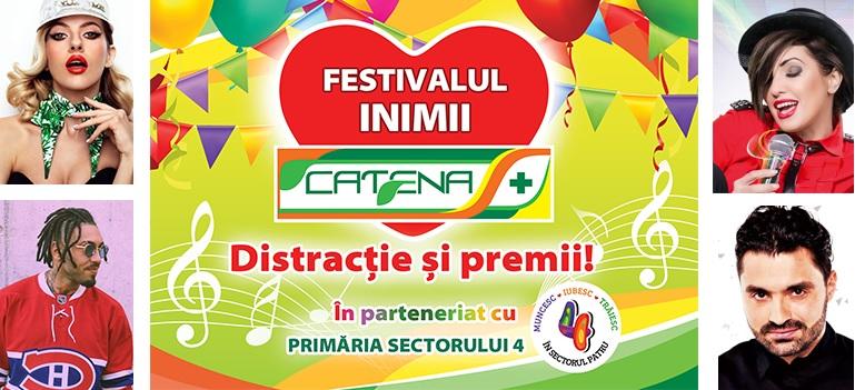Festivalul Inimii Catena te asteapta in weekend la superconcerte Lidia Buble, Alex Velea, Pepe si Nico!