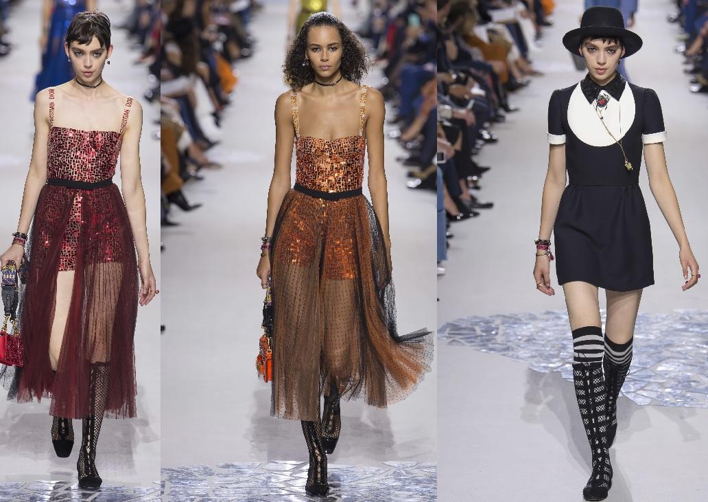 Paris Fashion Week: tinute stralucitoare si transparente in colectia Dior pentru primavara-vara lui 2018