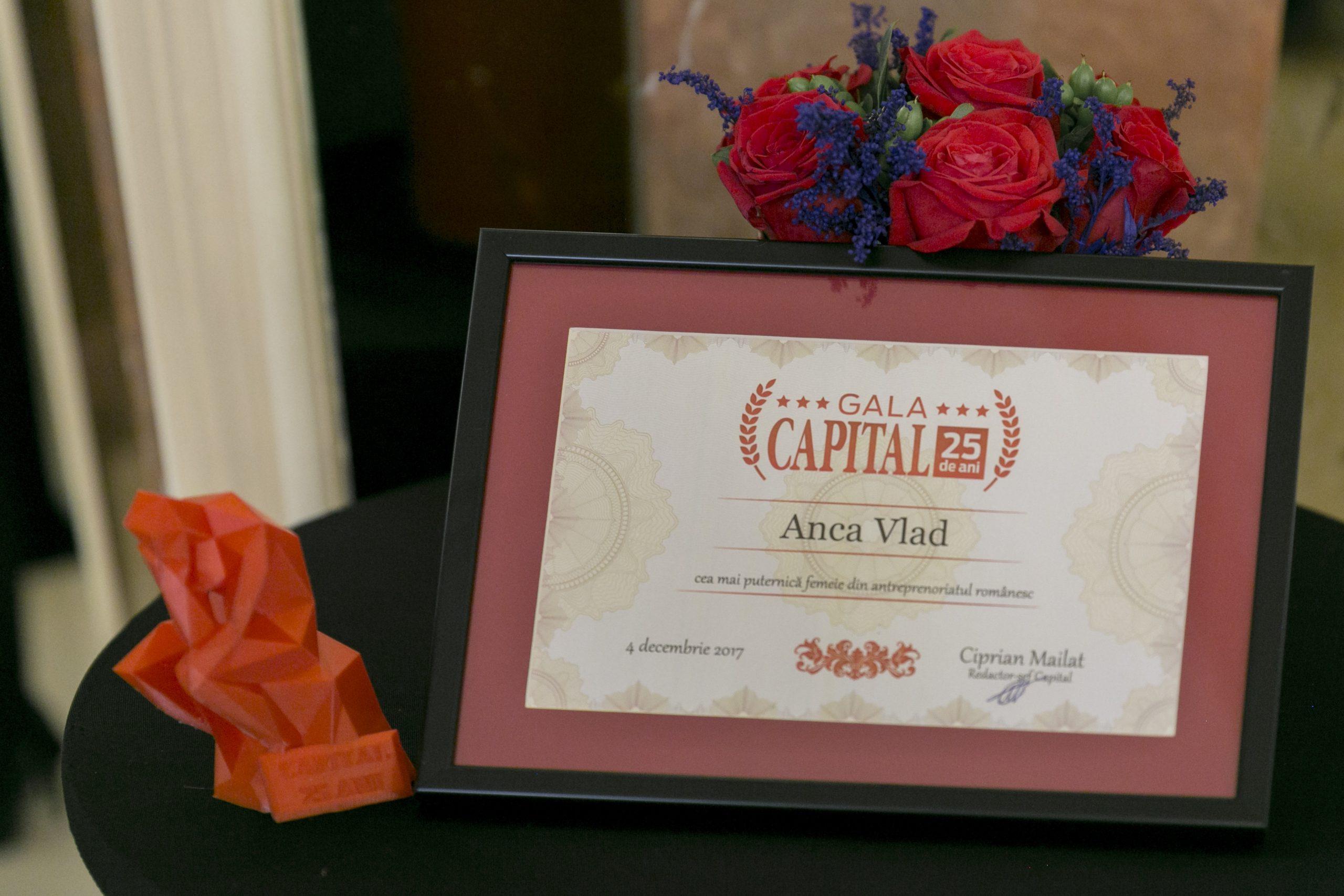 Revista Capital: Anca Vlad, desemnata cea mai puternica femeie din antreprenoriatul romanesc