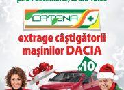 Urmareste in direct la Romania TV, pe 24 decembrie, ora 12:30, extragerea castigatorilor masinilor Dacia oferite de Catena!