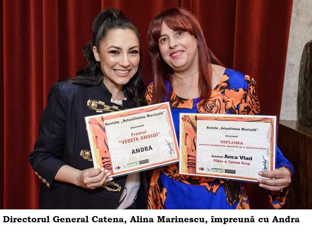 """Anca Vlad, diploma de onoare decernata in cadrul Galei Premiilor revistei """"Actualitatea Muzicala"""""""