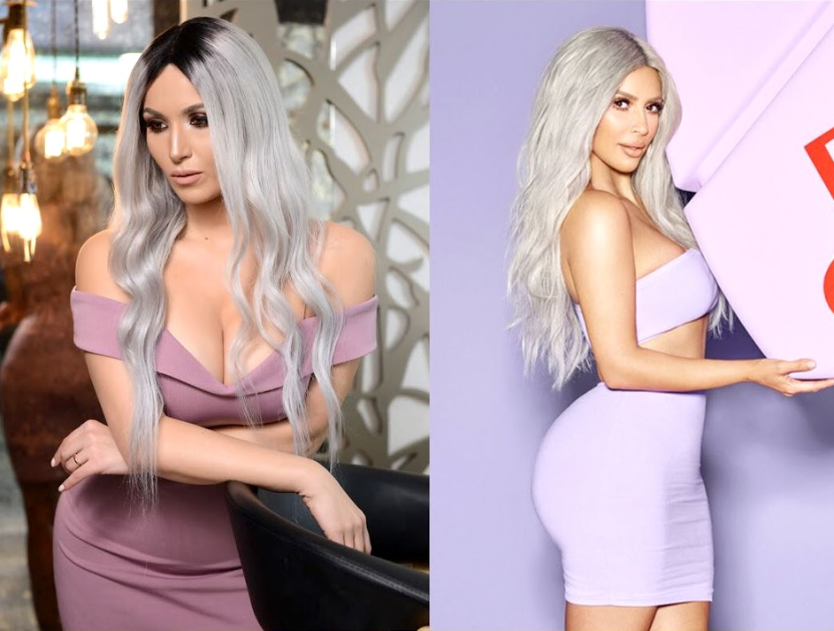 Ela Craciun, sosia lui Kim Kardashian in Romania!