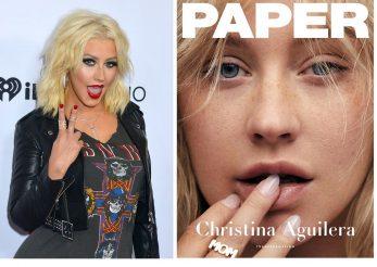 Christina Aguilera, de nerecunoscut fara machiaj!