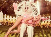 Miley Cyrus, sedinta foto sexy cu iepurasul de Paste