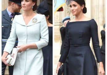 "Ducesele Kate si Meghan ""lovesc"" din nou! Au facut senzatie in tinute Dior si Alexander McQueen"