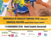 """Educatia pozitiva: mediu fericit, resurse infinite"":  editia a 5-a, speakeri internationali"