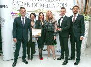 Eficienta si creativitate rasplatite: Tonica Group, premiata la Gala Radar de Media 2018