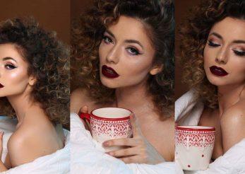 Make-up si hairstyle festiv: Glitter or RedLips?