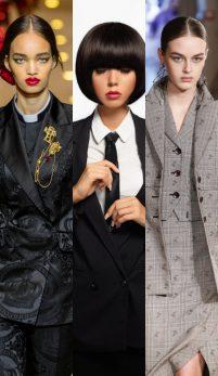 Deux-piècesul si costumul de inspiratie masculina: atractie la prima vedere