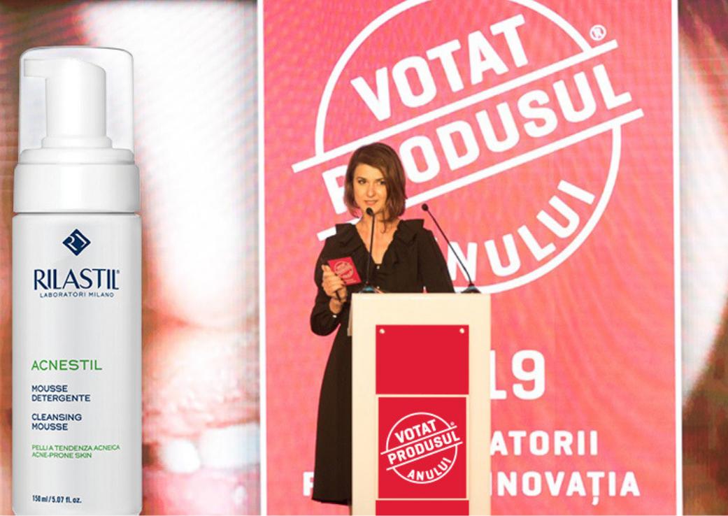 """Rilastil Acnestil – Votat Produsul Anului 2019 la categoria """"Dermato-cosmetice anti-acnee"""""""