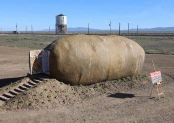 Un cartof urias, cea mai bizara unitate de cazare pentru turisti