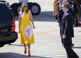 Melania Trump, lecție de stil la Biarritz