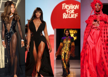 Naomi Campbell – show cromatic la London Fashion Week