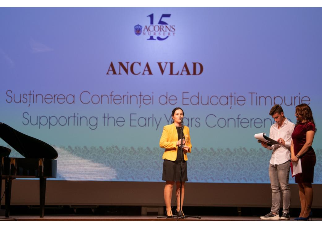 Anca Vlad, președinta Fildas-Catena, distinsă cu Trofeul pentru Susținerea Conferinței de Educație Timpurie