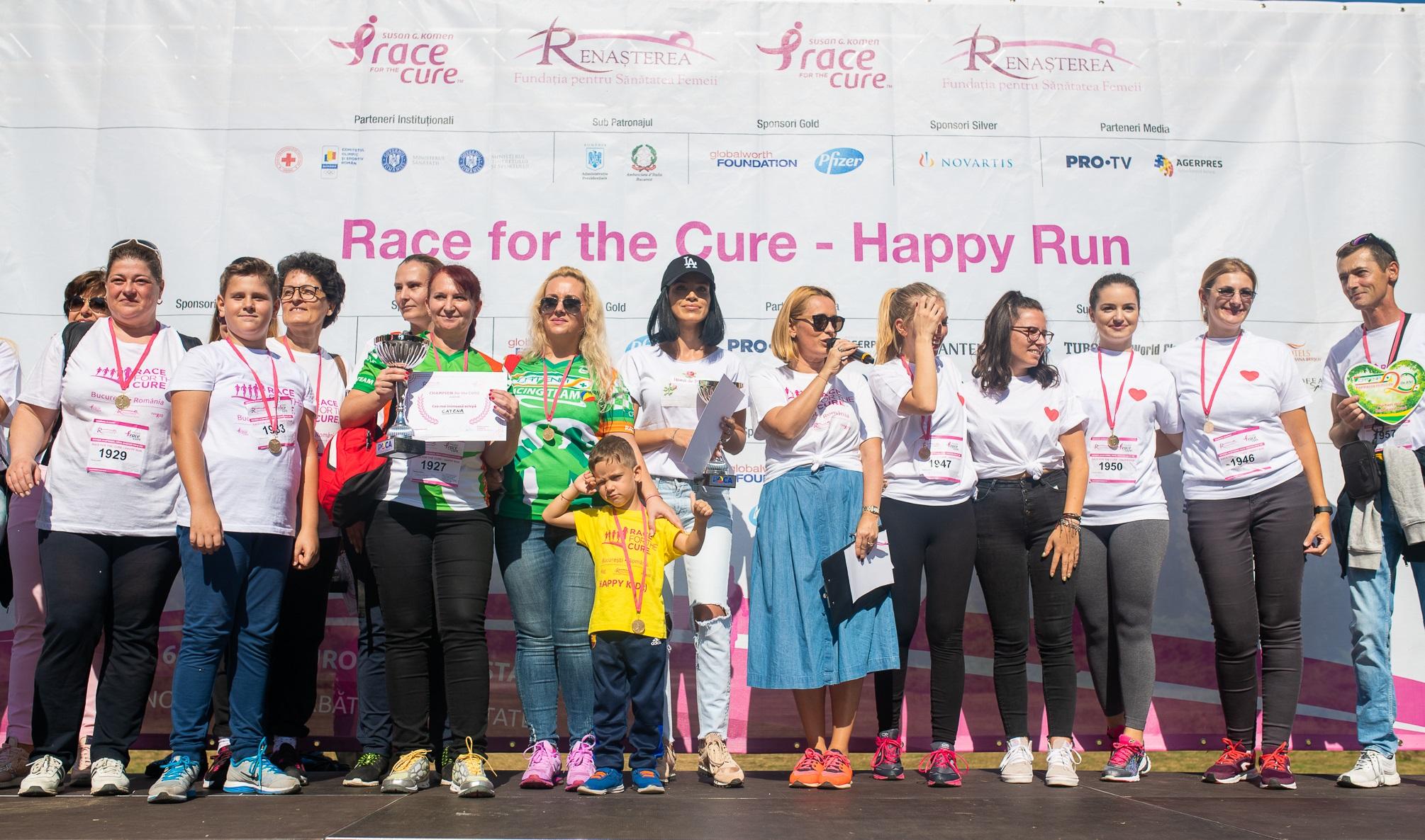 """Catena, din nou """"Cea mai inimoasă echipă"""" la Happy Run – Race for the Cure România"""